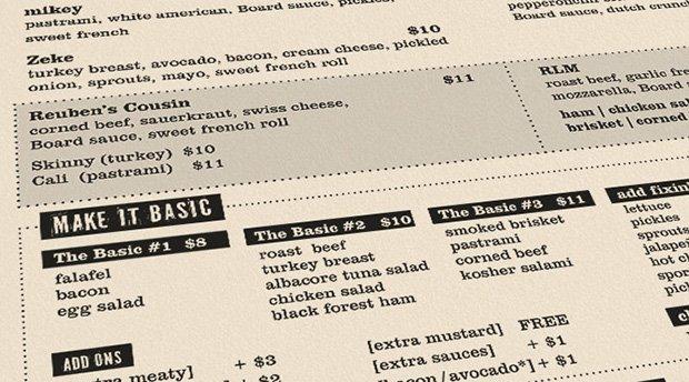 deli board sf lunch menu
