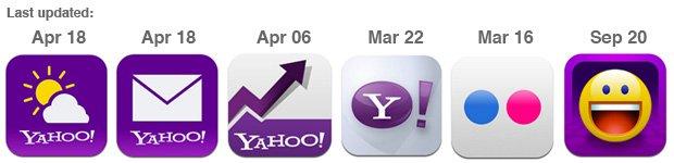 latest yahoo app icons
