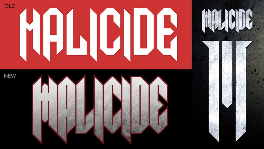 malicide logo old and new