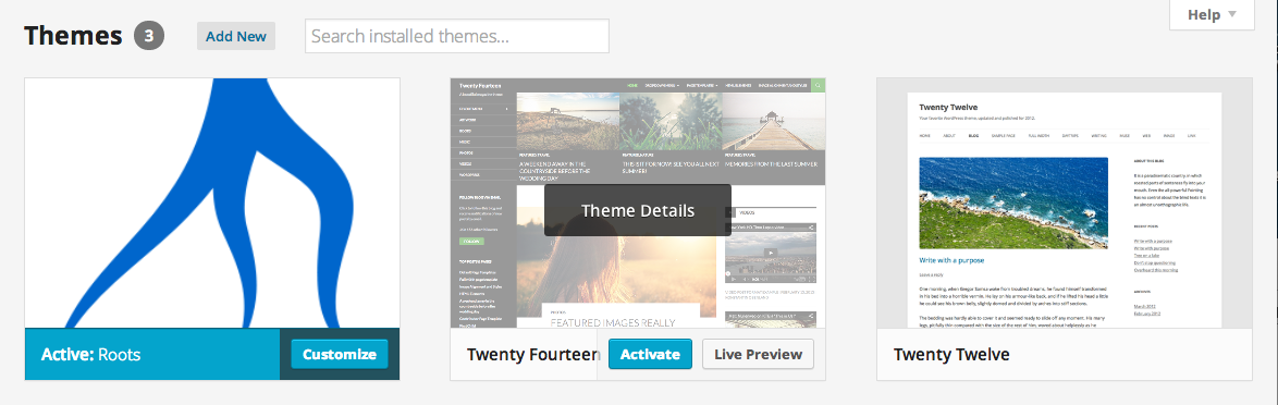 available wordpress themes