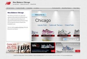 New Balance store page