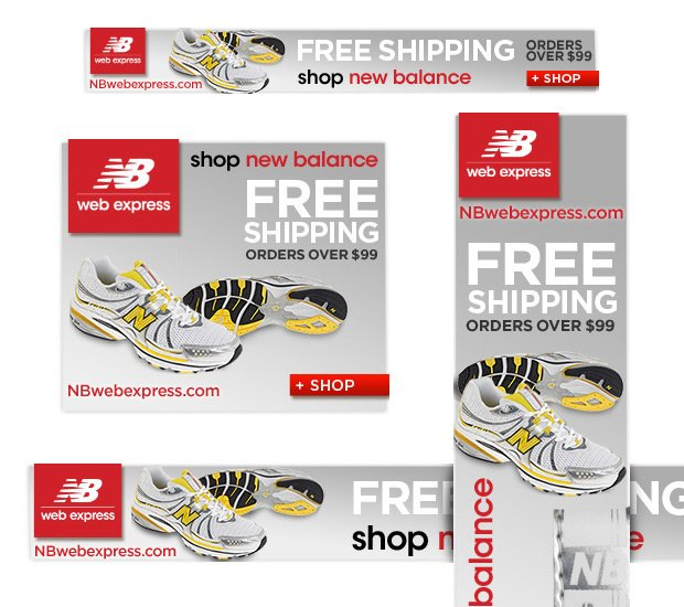 New Balance shoes banners