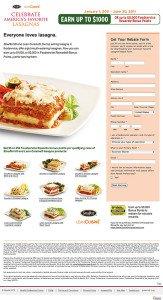 lasagna landing page
