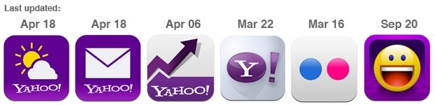 latest yahoo app icons