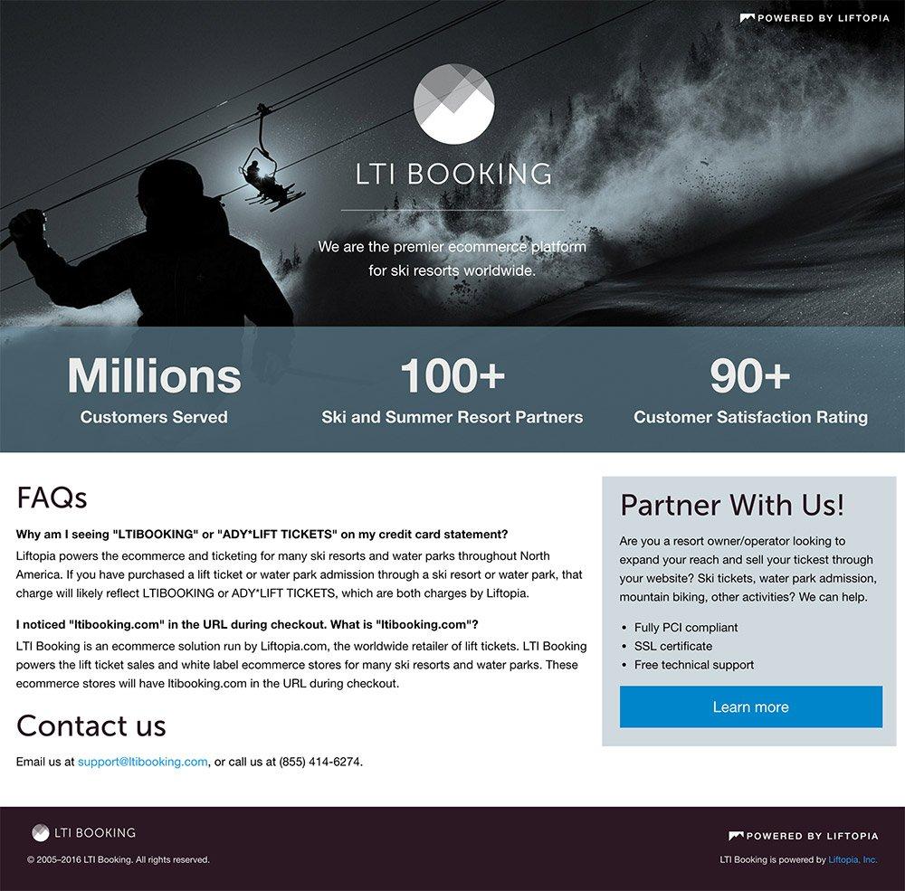 lti booking screenshot desktop