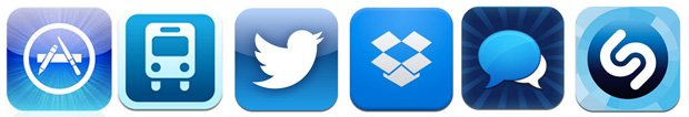 sea of blue iphone icons