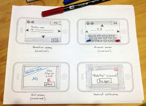 sketching skate trivia game screens