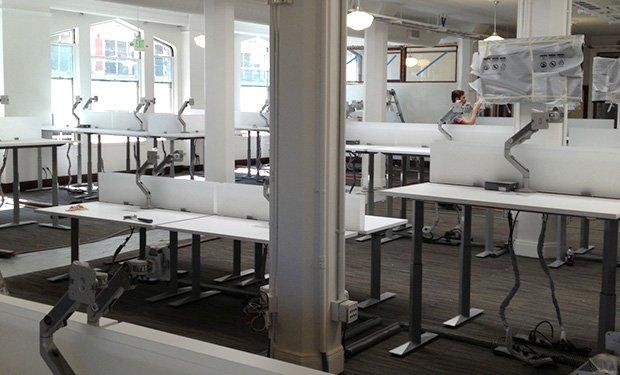 image of new standing desks