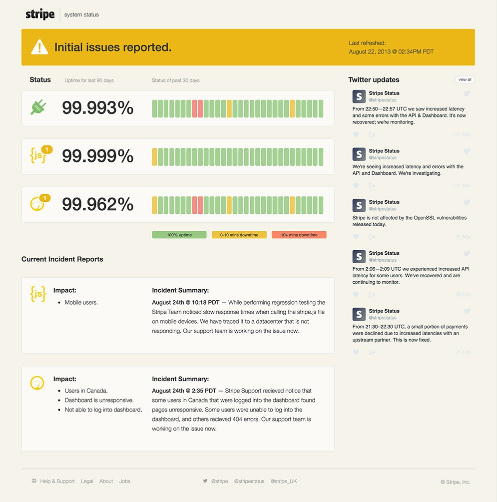 stripe status demo yellow