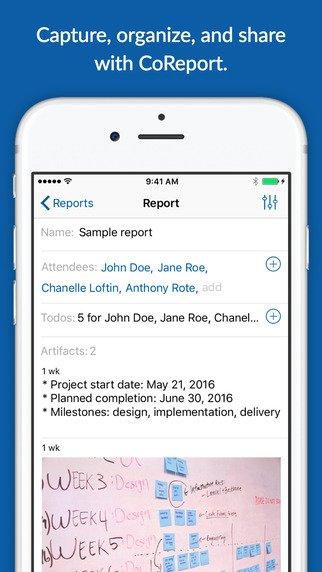 coreport report screen