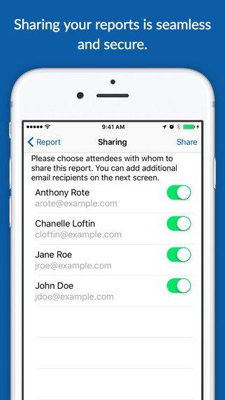 coreport sharing screen